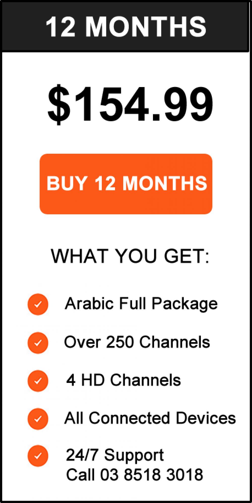 ZaapTV Go Pricing 12 Months