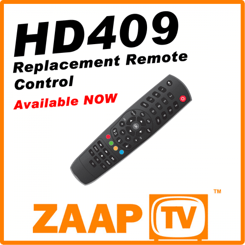 ZAAPTV HD409 Replacement Remote Control