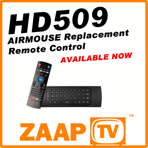ZAAPTV HD509 Airmouse Remote Control