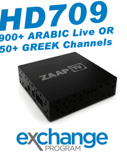 ZAAPTV HD709 - New 2018 Model - Exchange Program