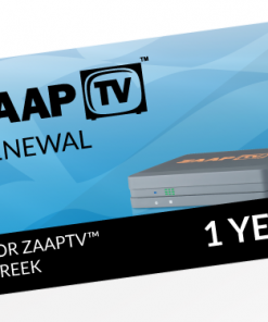 ZAAPTV GREEK 1 Year Renewal Card / PIN