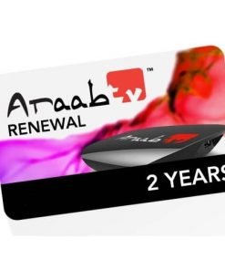 ARAABTV 2 Year Renewal Card / PIN